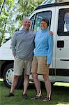 Couple outside campervan, portrait Stock Photo - Premium Royalty-Free, Artist: Cultura RM, Code: 614-06116111