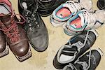 Pairs of shoes Stock Photo - Premium Royalty-Freenull, Code: 698-06116708