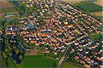 Aerial View of Village, Stadtschwarzach, Bavaria, Germany Stock Photo - Premium Rights-Managed, Artist: Raimund Linke, Code: 700-06119591