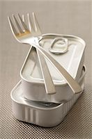fork - Forks and Tins of Food Stock Photo - Premium Royalty-Freenull, Code: 600-06119609