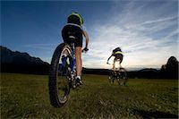 people mountain biking - Two mountainbikers in the Dolomites, South Tyrol, Italy Stock Photo - Premium Rights-Managednull, Code: 853-06120445
