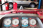 Close-up of a hoist pressure gauge in garage Stock Photo - Premium Royalty-Free, Artist: Cusp and Flirt, Code: 693-06120951