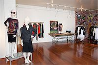 Interior of a fashion boutique Stock Photo - Premium Royalty-Freenull, Code: 693-06121223