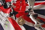 Archery Equipment and Medal on flag Stock Photo - Premium Rights-Managed, Artist: Aflo Sport, Code: 858-06121559