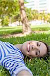 Woman Lying on Grass, Miami Beach, Florida, USA Stock Photo - Premium Royalty-Free, Artist: Raoul Minsart, Code: 600-06125463