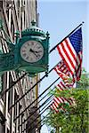 Clock and American Flags, Chicago, Illinois, USA Stock Photo - Premium Rights-Managed, Artist: Ed Gifford, Code: 700-06125619
