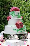 a three tiered wedding cake Stock Photo - Royalty-Free, Artist: mwookie                       , Code: 400-06128109