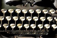 Old typewriter keys Stock Photo - Royalty-Freenull, Code: 400-06129426