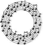 This illustration depicts a circle of musical notation. Stock Photo - Royalty-Free, Artist: caraman                       , Code: 400-06129800