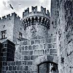 castle Stock Photo - Royalty-Free, Artist: mikdam                        , Code: 400-06131952