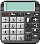 This illustration depicts a pocket calculator with a blank screen. Stock Photo - Royalty-Free, Artist: caraman                       , Code: 400-06132197