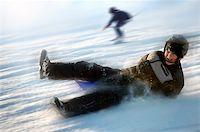 Boy on sled Stock Photo - Royalty-Freenull, Code: 400-06133837