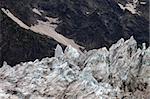 Glacier in Caucasus Mountains, Georgia.