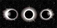 solar eclipse illustration in three stages Stock Photo - Royalty-Freenull, Code: 400-06136489