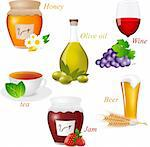 Vector set with food elements Stock Photo - Royalty-Free, Artist: 578foot                       , Code: 400-06136503