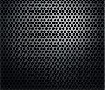 Hexagonal metal perforated honeycomb grill black background Stock Photo - Royalty-Free, Artist: Anterovium                    , Code: 400-06137240