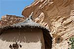 Granaries in a Dogon village, Mali (Africa).  The Dogon are best known for their mythology, their mask dances, wooden sculpture and their architecture. Stock Photo - Royalty-Free, Artist: michelealfieri                , Code: 400-06138265