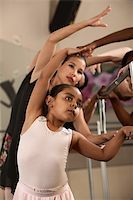 Ballet students stretch out and warm up Stock Photo - Royalty-Freenull, Code: 400-06138342