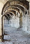 Arch corridor ancient amphitheater of Aspendos old ruin, Turkey. Stock Photo - Royalty-Free, Artist: svetap                        , Code: 400-06139678