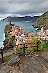 Vernazza fishermen village in Cinque Terre, unesco world heritage in Italy Stock Photo - Royalty-Free, Artist: porojnicu                     , Code: 400-06139886