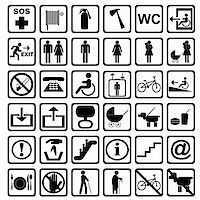 International service signs. All objects are isolated and grouped. Stock Photo - Royalty-Freenull, Code: 400-06140103