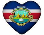 Illustration of heart with flag of Costa Rica Stock Photo - Royalty-Free, Artist: marphotography                , Code: 400-06140175