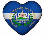 Illustration of heart with flag of El Salvador Stock Photo - Royalty-Free, Artist: marphotography                , Code: 400-06140177