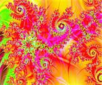 A rich and colorful spiral swirls fractal collage. Digital art creation. Stock Photo - Royalty-Free, Artist: marphotography                , Code: 400-06140181