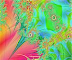 A rich and colorful spiral swirls fractal collage. Digital art creation. Stock Photo - Royalty-Free, Artist: marphotography                , Code: 400-06140187