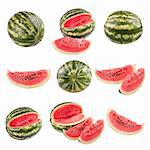 Water melons isolated on white background. Stock Photo - Royalty-Free, Artist: Edvard76                      , Code: 400-06140920