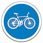 Illustration of the sign marking bicycle lanes. Stock Photo - Royalty-Free, Artist: Duda78                        , Code: 400-06141805
