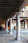 The Plaza Mayor of Tordesillas (Spain) is the historic and attractive central community space framed by the 17th century colonnade and porticos creating the arcade that encircles it. Stock Photo - Royalty-Free, Artist: ribeiroantonio                , Code: 400-06141865