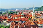Prague, Czech Republic. Top-view of  Mala Strana Stock Photo - Royalty-Free, Artist: TatyanaSavvateeva             , Code: 400-06142324
