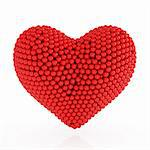 3d heart from the red spheres on white background Stock Photo - Royalty-Free, Artist: kotist                        , Code: 400-06142711