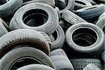 A lot of car tires in a pile Stock Photo - Royalty-Free, Artist: kolbjorn                      , Code: 400-06144508