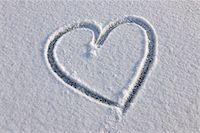 Heart in Snow, Odenwald, Hesse, Germany Stock Photo - Premium Royalty-Freenull, Code: 600-06144757