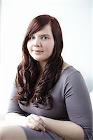 fat lady sitting - Portrait of Woman Stock Photo - Premium Rights-Managednull, Code: 700-06144784