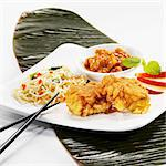 Fried monk fish with mie noodles and apple chutney Stock Photo - Premium Royalty-Free, Artist: Cultura RM, Code: 659-06151189