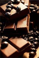 sweet   no people - Mocca chocolate and coffee beans Stock Photo - Premium Royalty-Freenull, Code: 659-06151276