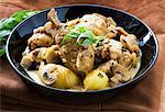 Chicken stew with mushrooms and tarragon Stock Photo - Premium Royalty-Freenull, Code: 659-06151519