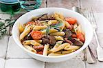 Penne with chicken liver, tomatoes and sage Stock Photo - Premium Royalty-Free, Artist: Photocuisine, Code: 659-06151522