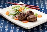 Meat balls with rice noodles and vegetables (Thailand) Stock Photo - Premium Royalty-Freenull, Code: 659-06151527
