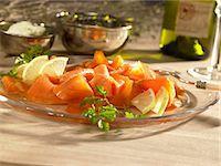 smoked - Smoked salmon with lemons Stock Photo - Premium Royalty-Freenull, Code: 659-06151714