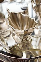 Silverware on a silver tray Stock Photo - Premium Royalty-Freenull, Code: 659-06151752