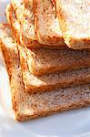 A stack of wholemeal toast Stock Photo - Premium Royalty-Freenull, Code: 659-06152245