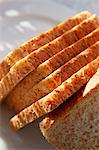 Slices of wholemeal bread Stock Photo - Premium Royalty-Freenull, Code: 659-06152246