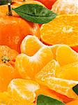 Mandarins, whole, halved and segments (close-up) Stock Photo - Premium Royalty-Free, Artist: Photocuisine, Code: 659-06152356