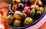 A bowl of marinated olives and capers Stock Photo - Premium Royalty-Free, Artist: Photocuisine, Code: 659-06152404