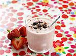 Strawberry smoothie with cereals Stock Photo - Premium Royalty-Free, Artist: Photocuisine, Code: 659-06152527