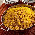 A Bowl of Spanish Yellow Rice (Arroz Amarillo) Stock Photo - Premium Royalty-Freenull, Code: 659-06152971